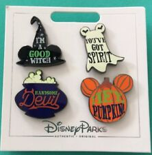 Disney Halloween Pin Set New On A Card