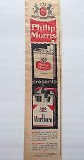 PUBLICITE    cigarettes  MARLBORO  PHILIP MORRIS EN 1959  REF 7629