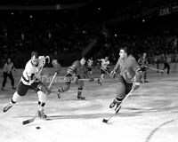 NHL 1950's Gordie Howe vs Rangers Game Action Black & White 8 X 10 Photo Picture