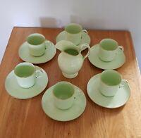 Powell and Bishop Rare Victorian Celedon Green Coffee Set.  Circa 1876