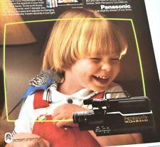 Panasonic Camcorder Video Camera Omni Movie VHS Recorder 1987 Vintage Print Ad