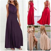 Elegant Women Multi Way Convertible Bridesmaid Maxi Cocktails Long Party Dresses