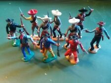 Timpo toys. 1/32è. Cowboys et mexicains. 10 pièces. Lot 10TCM.