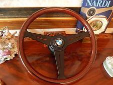 "BMW E9 2800 CS Wood Steering Wheel 15""3 Nardi NOS Original D.O.T. Germany BMW"