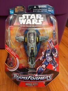 Star Wars Transformers 2006 Jengo Fett Slave 1 Action Figure Hasbro OOP RARE HTF