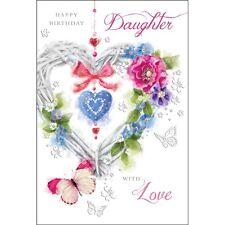 Daughter Happy Birthday Card ~ Birthday Daughter ~ Luxury Card ~ Lovely Verse