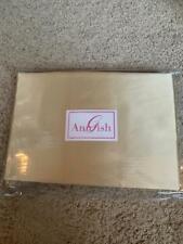 "Last One! $1725! New Ann Gish ""Satin"" 100% Silk Sunlight Queen Duvet Cover Rare!"