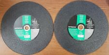 "LOT OF 5 - HITACHI ITEM NO. 727-689  CUT OFF MASONRY WHEEL 14"" x 1/8"" x 1"" EACH"