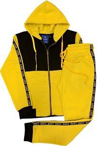 Womens Sweatsuit LOVE Stripe Soft Fleece Jogger Sweat Jacket Sweatpants Outfit