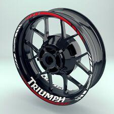 """Wheelsticker Cerchioni Adesivo """"TRIUMPH"""" su entrambi i lati/anteriore e posteriore"""