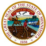 MINNESOTA STATE SEAL VINYL FLAG DECAL STICKER  MULTIPLE SIZES TO CHOOSE FROM