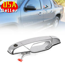 Chrome Exterior Door Handle for 07-13 Chevrolet GMC Front Left Driver Side