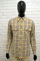 Camicia GAS Uomo Taglia Size L Maglia Man Shirt Chemise Shirt Cotone A Quadretti