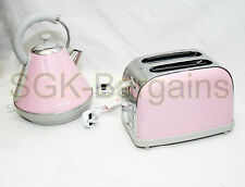 Juego de cocina que empareja Rosa 1.8 L Hervidor eléctrico CORDLES 2 Rebanada Tostadora Bagel AB
