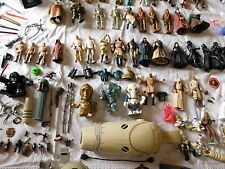 VTG '77 + Star Wars Action Figure Lot Kenner HUGE GMFGI WEAPONS MINI LUKE HASBRO