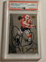 1996 Upper Deck Theo Fleury PSA/DNA authenticated Auto - Calgary Flames MINT