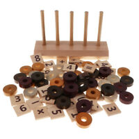 MONTESSORI MATHEMATICS WOODEN TOY- 76PCS MATH CALCULATING LEARNING MATERIAL