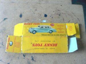 DINKY 150 ROLLS ROYCE SILVER WRAITH BOX