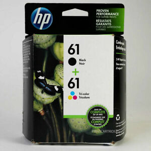 New HP 61 Combo Black and Color Genuine Ink Cartridges