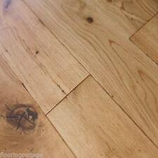 Real Solid Oak Lacquered Finish 18mm x 150mm Hardwood Flooring Rustic Wood