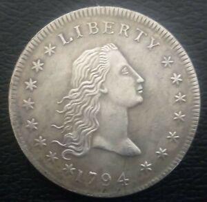 Restrike USA 1794 Flowing Hair Liberty Dollar