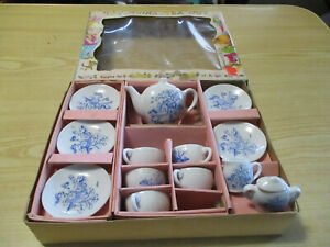 TEA SET CHILDS CHINA SONSCO JAPAN - JUST LIKE MOMMY - Blue Willow - Not Complete