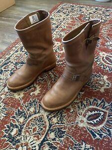 John Lofgren CXL Horween Natural Leather Engineer Boots
