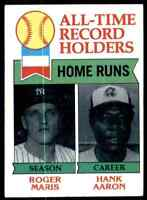 1979 Topps All-Time Record Holders Hank Aaron Roger Maris #413