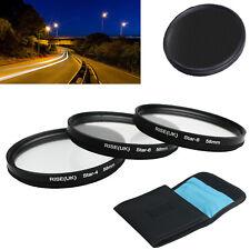 RISE(UK)58mm star 4 6 8 Point line 3 Filter Kit for Canon Nikon Sony Camera Lens