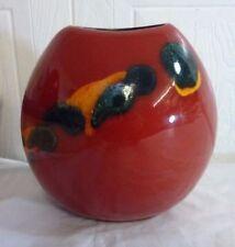 Orange Decorative Poole Pottery Vases