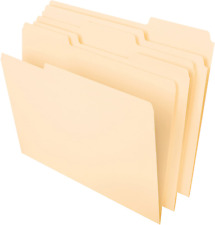 100 Ct File Folders Manila 13 Cut Assorted Top Tab Letter Size Office Pendaflex