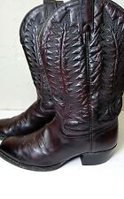 DUNBAR MEN'S WESTERN ~ COWBOY LEATHER BOOTS SIZE 10 D Handcrafted in TEXAS