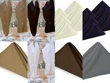 Bulk Napkins Kitchen Cloth 100% Cotton Dining Bar Occasions All Color/Size-White