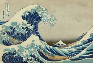 TIME4BILD HOKUSAI Katsushika Die große Welle vor Kanagawa Japan BILDER LEINWAND