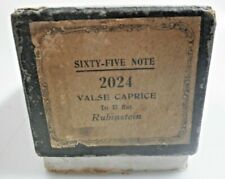 alte TRIUMPH Pianola Notenrolle Rubinstein VALSE CAPRICE (2024) Sixty-Five Note
