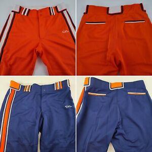 Boombah Baseball/Softball Pants New - Orange/White and Blue/Orange Various Sizes