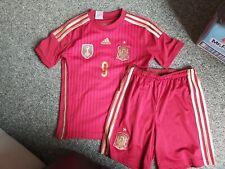 Campeones del Mundo FIFA España 2010 Fútbol Jersey Camisa Top 11-12 años 9 Torres