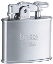Ronson Standard Stylish Design Oil Lighter Chrome Satin Silver Made in Japan New