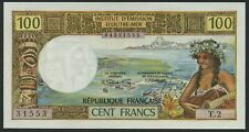 Tahiti French Oceania: 100 Francs 1973 o.A. (P-24 / B403b)