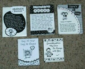 Lot 5 NEW Blue Mountain Arts Children of Inner Light Magnets Purse Pad Mini Book
