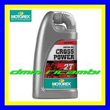 1 Litro Olio Miscela 2 tempi New MOTOREX Cross Power 2T 100% Sintetico Motore