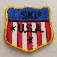 Vintage NOS Ski USA Patch Hat Jacket Logo Embroidered Shield Emblem