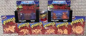 Masters of Universe M.U.S.C.L.E. 9 Bundle Set Huge Lot 30 Figures MOTU Trash Can