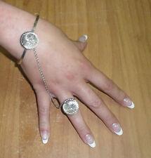 baciamano  gioiello nodi argento ELEMENTI A SCELTA  BACIA MANO bracciale rigido