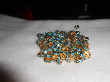 50-6mm aqua blue rondelle jeweled wedding ring fishing lure components