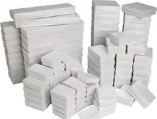 Cotton Filled Jewelry Gift Boxes Lot of 100 mixed sizes see details WHITE