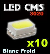 170/10# Led CMS Blanc froid 10pcs  white smd --2000mcd