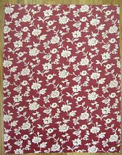Beautiful 1930's French Monotone Cotton Floral Fabric  (9974)