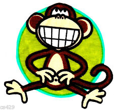 "4.5"" BOBBY JACK MONKEY WALL SAFE STICKER CHARACTER BORDER CUT OUT"