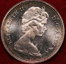 Uncirculated 1965 Canada 10 Cents Silver Foreign Coin